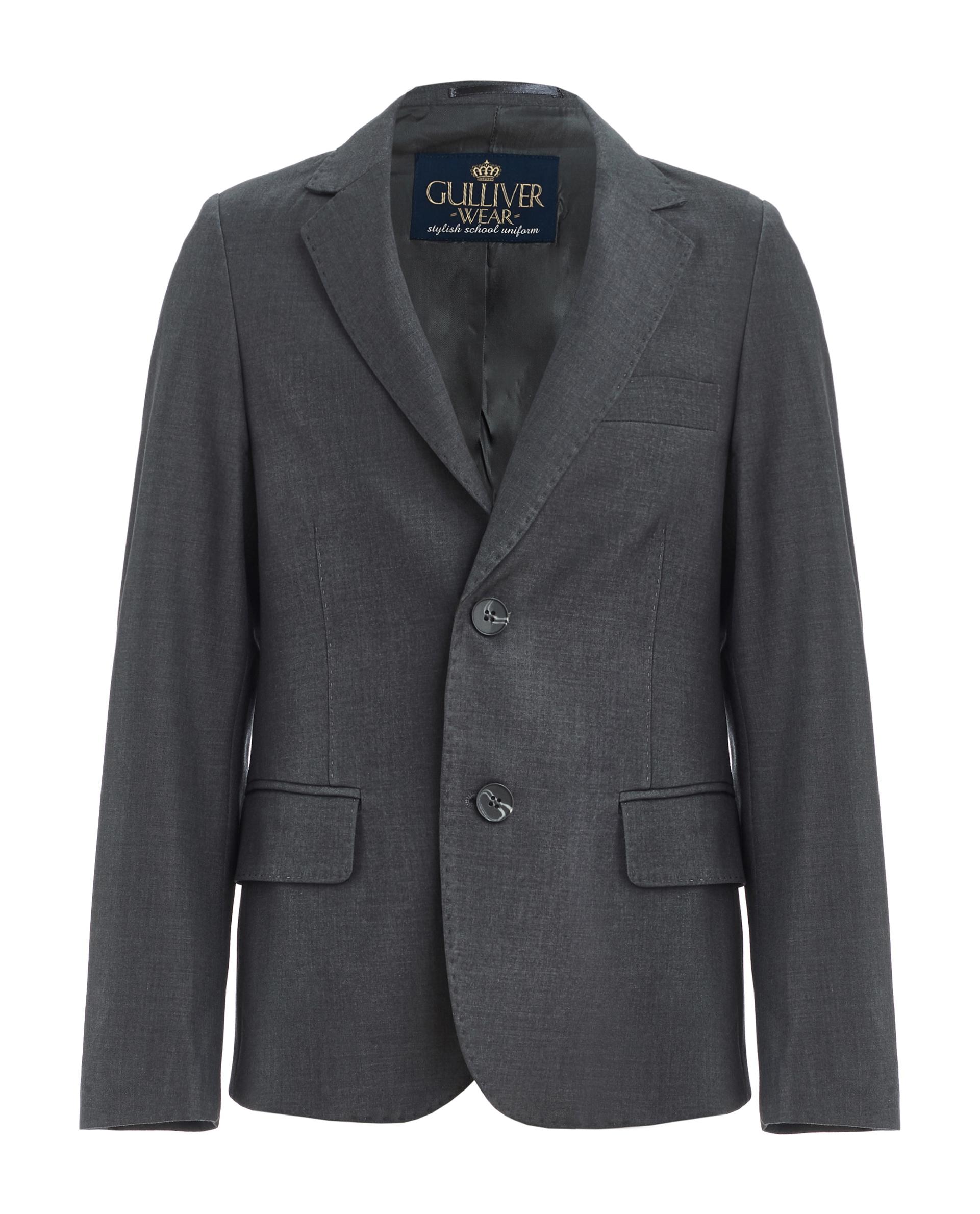 Пиджак для мальчиков Gulliver, цв. серый, р.128