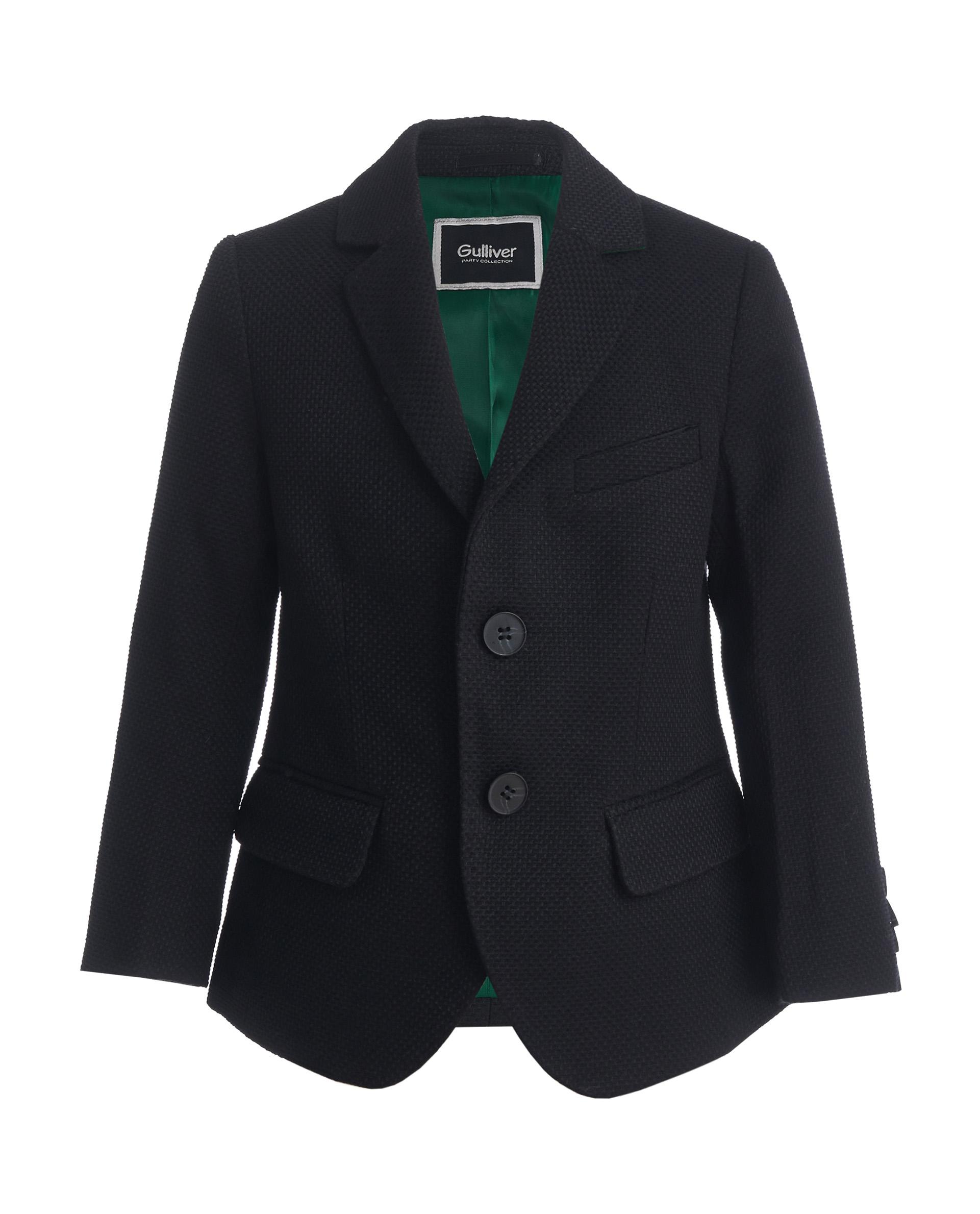 Пиджак для мальчиков Gulliver, цв. черный, р.128