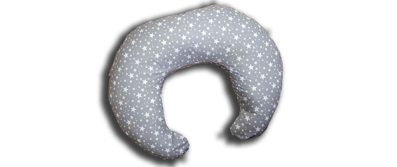 Подушка для кормления TEXXET C Звездопад на сером