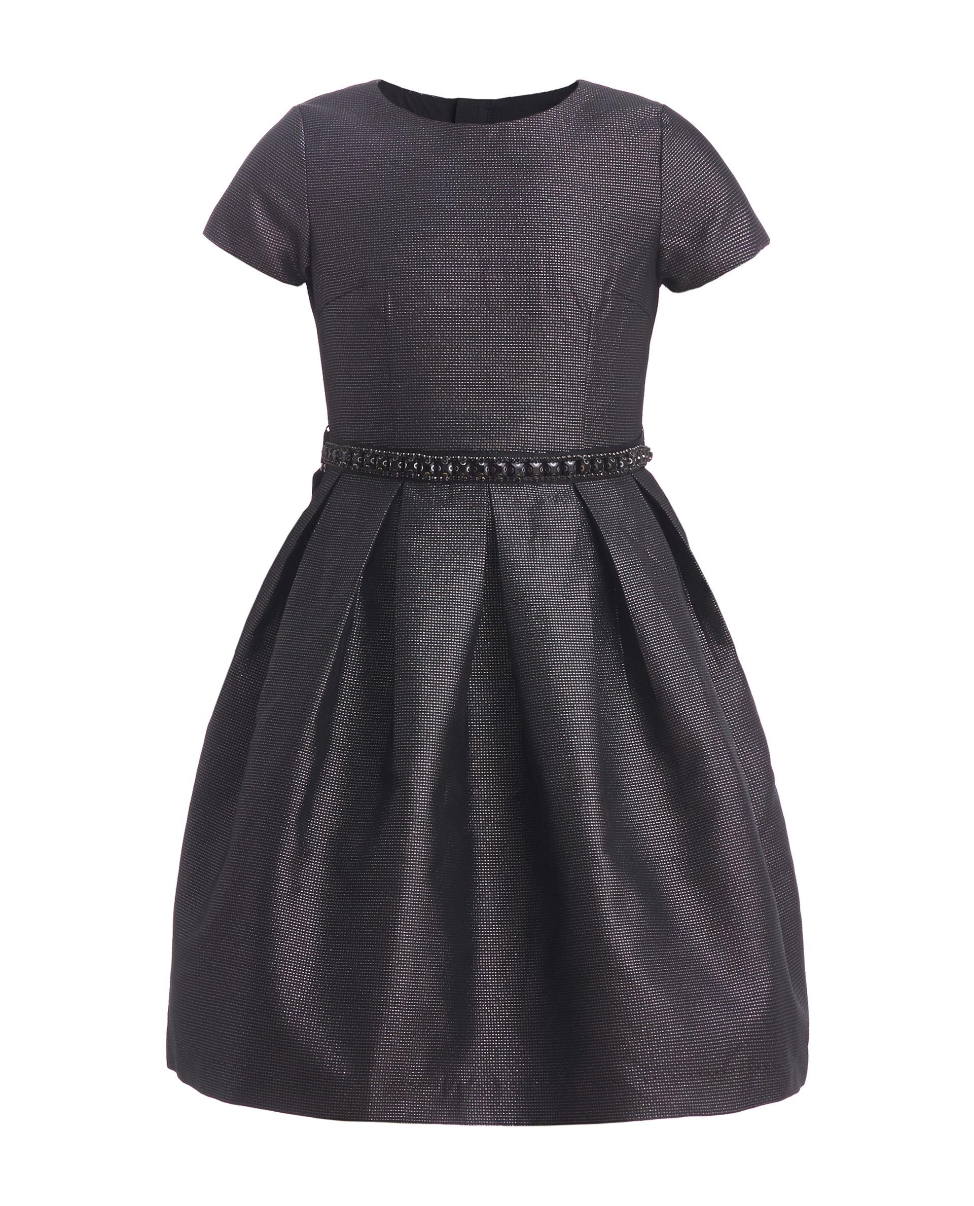 Купить 219GPGJC2505, Платье для девочек Gulliver, цв. черный, р.164,