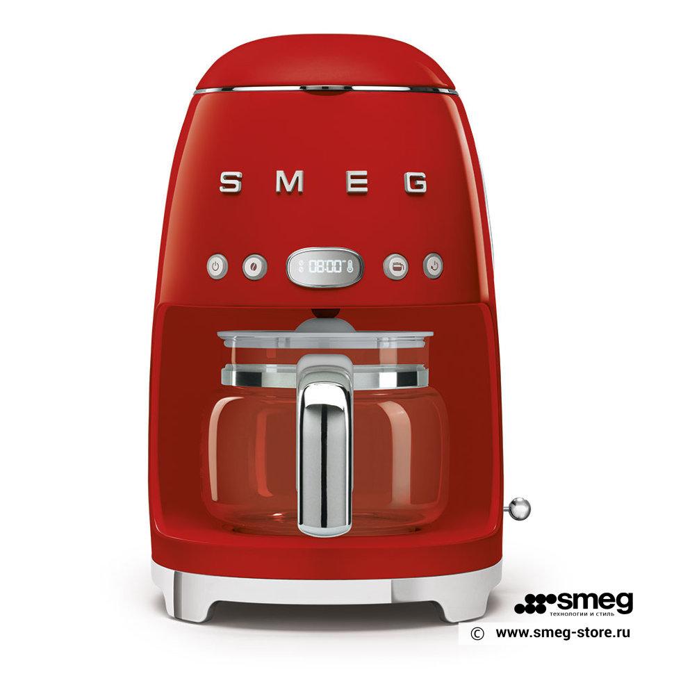 Кофеварка капельного типа Smeg DCF02RDEU Red