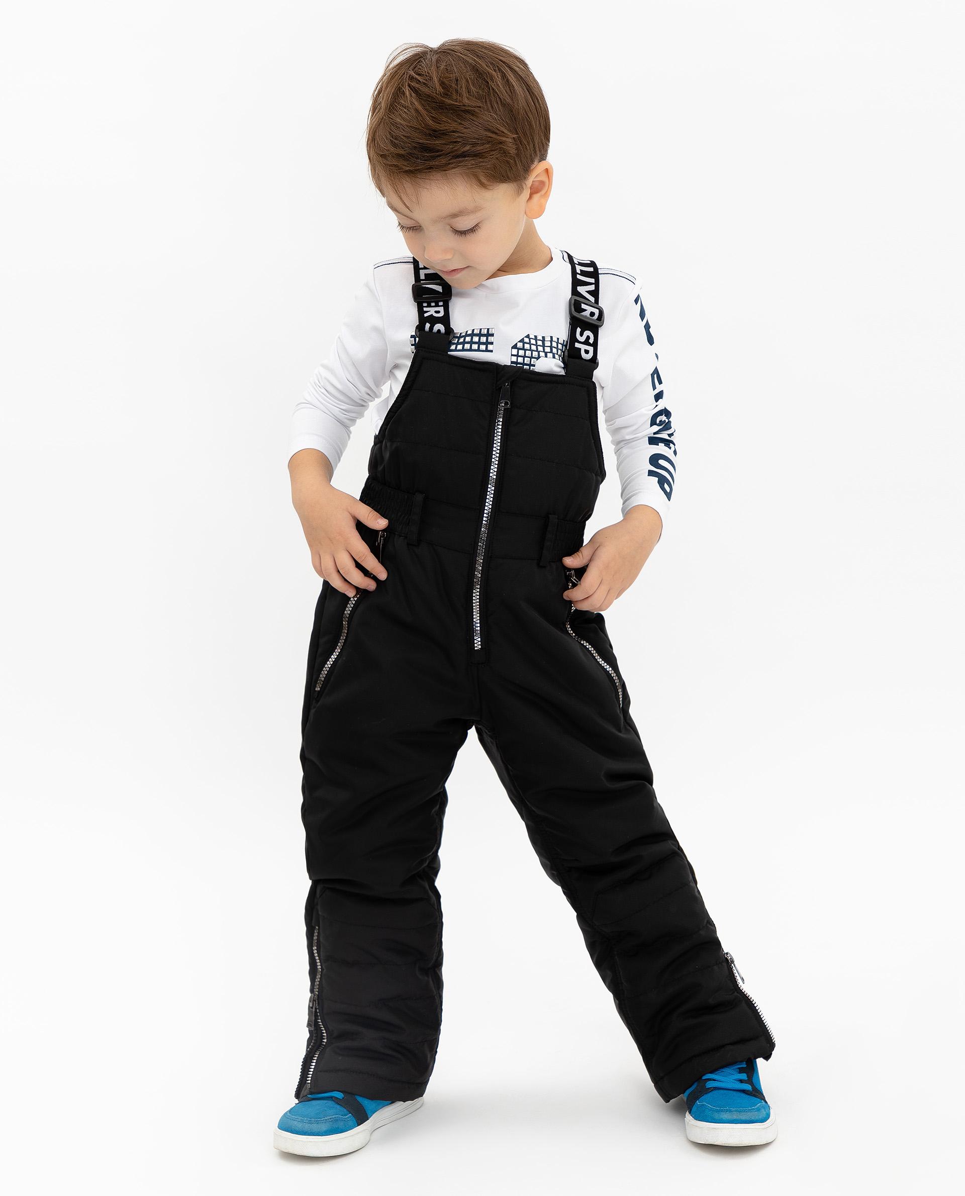 Купить 219FUC6701, Утепленные брюки унисекс Gulliver, цв. черный, р.104, Полукомбинезоны и брюки для девочек