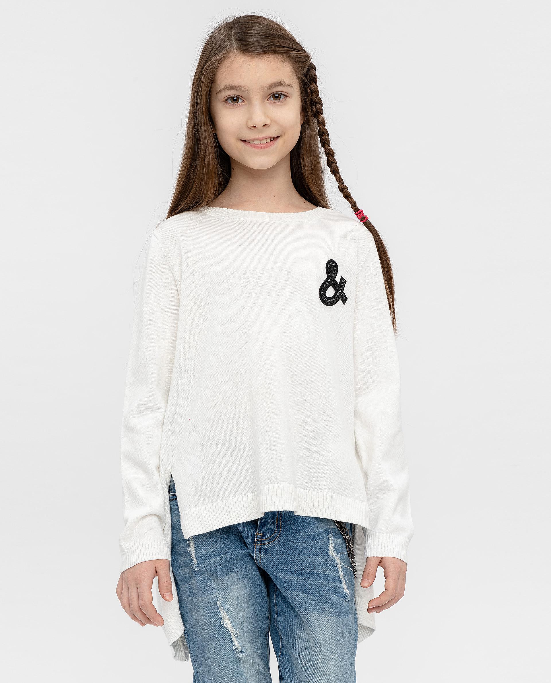 Джемпер для девочек Gulliver, цв. белый, р.164 12007GJC3101
