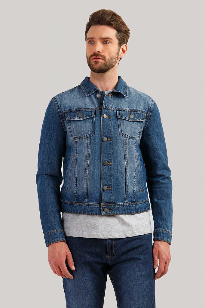 Куртка мужская Finn-Flare B19-25000 синяя M