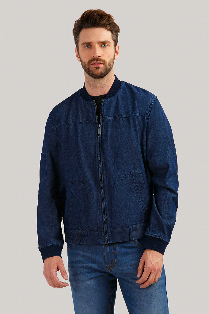 Куртка мужская Finn-Flare B19-25001 синяя XL