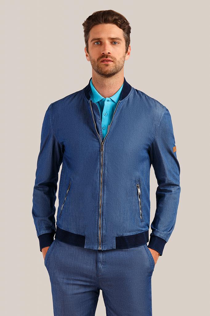 Куртка мужская Finn-Flare S19-21000 синяя XL