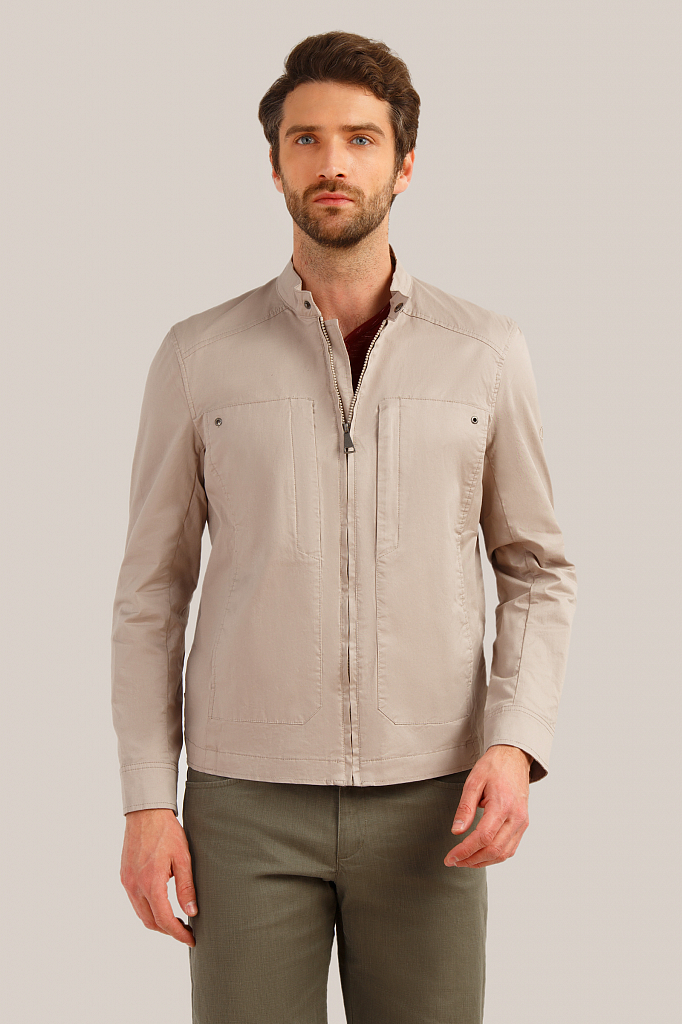 Куртка мужская Finn-Flare S19-22006 бежевая XL