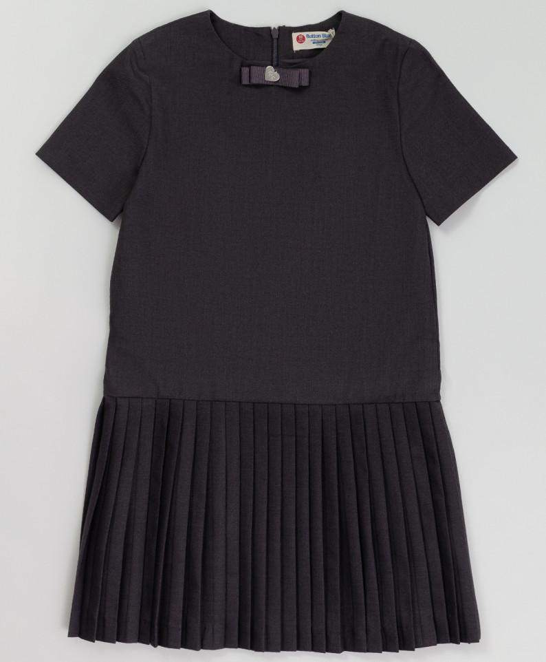 Купить Серое платье с коротким рукавом BUTTON BLUE 220BBGS25020100, размер 146,