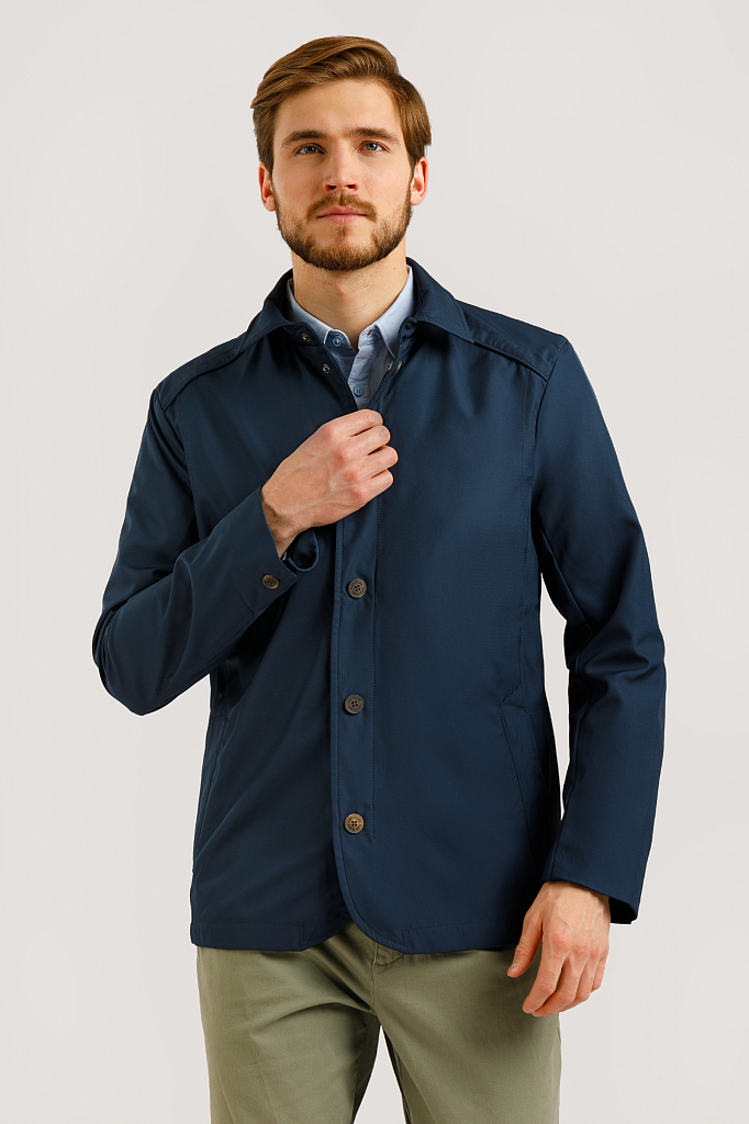Куртка мужская Finn-Flare B20-22041 синяя L