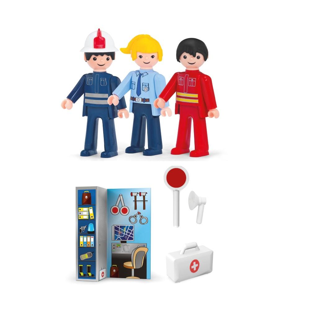 Купить Служба спасения Efko 3 фигурки 8 см, с аксессуарами, Игровые наборы