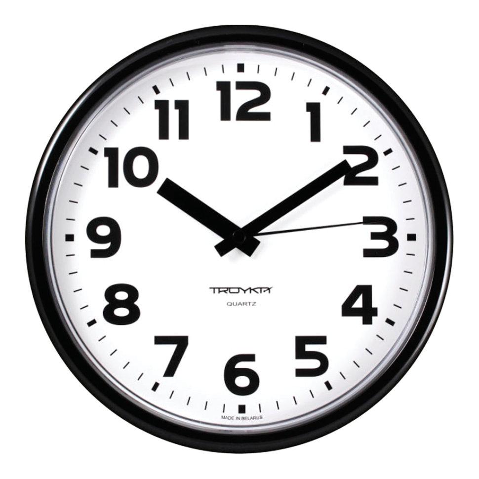 Часы настенные Troyka 91900945 круг D23 см