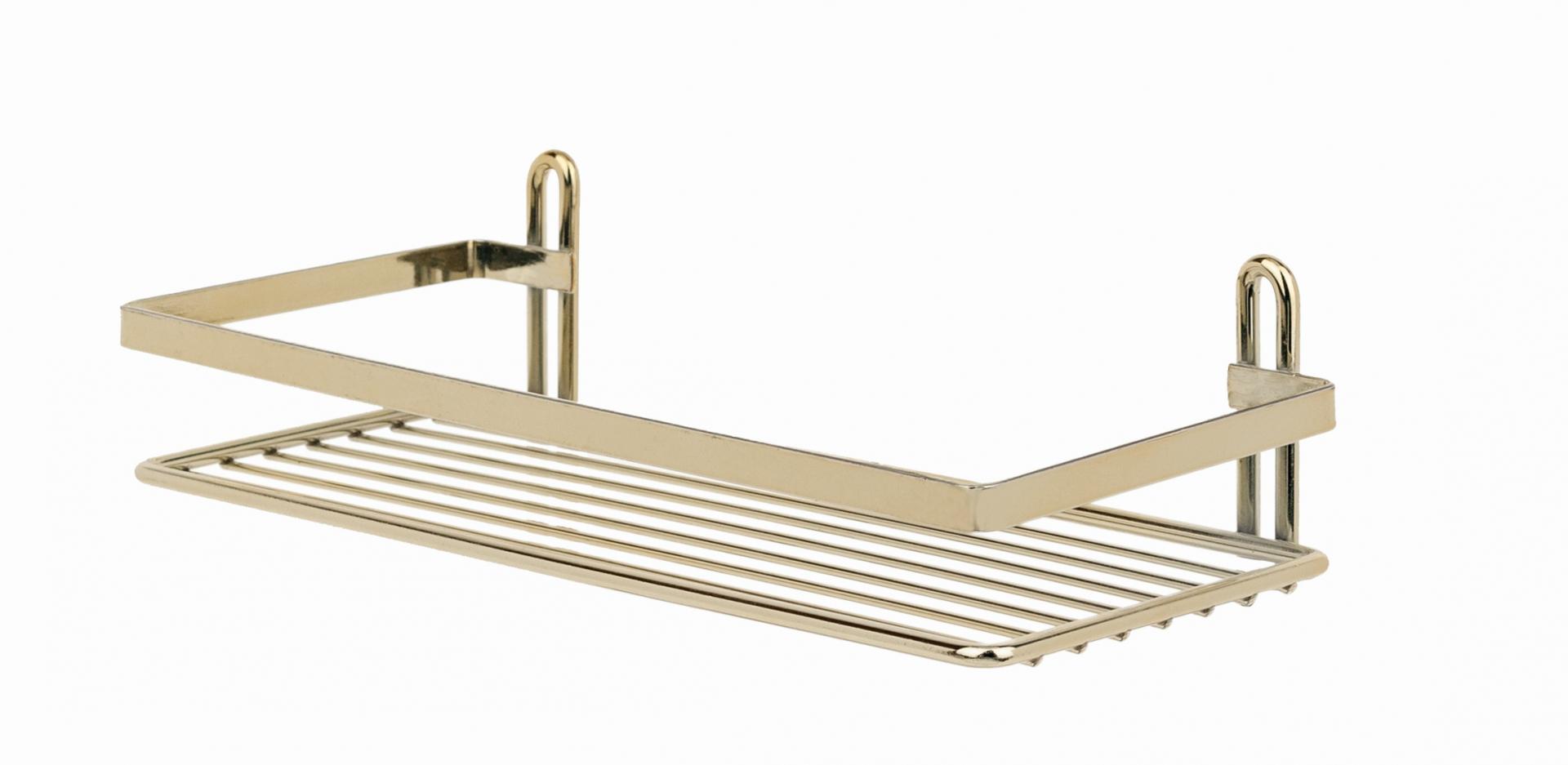 Полка в ванную TEKNO-TEL прямая ES081G 1 ярус 25х12х6 по цене 894
