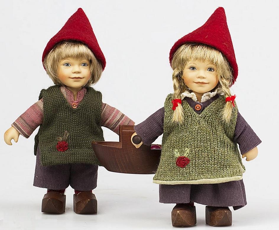 Набор фарфоровых кукол Birgitte Frigast Bobo