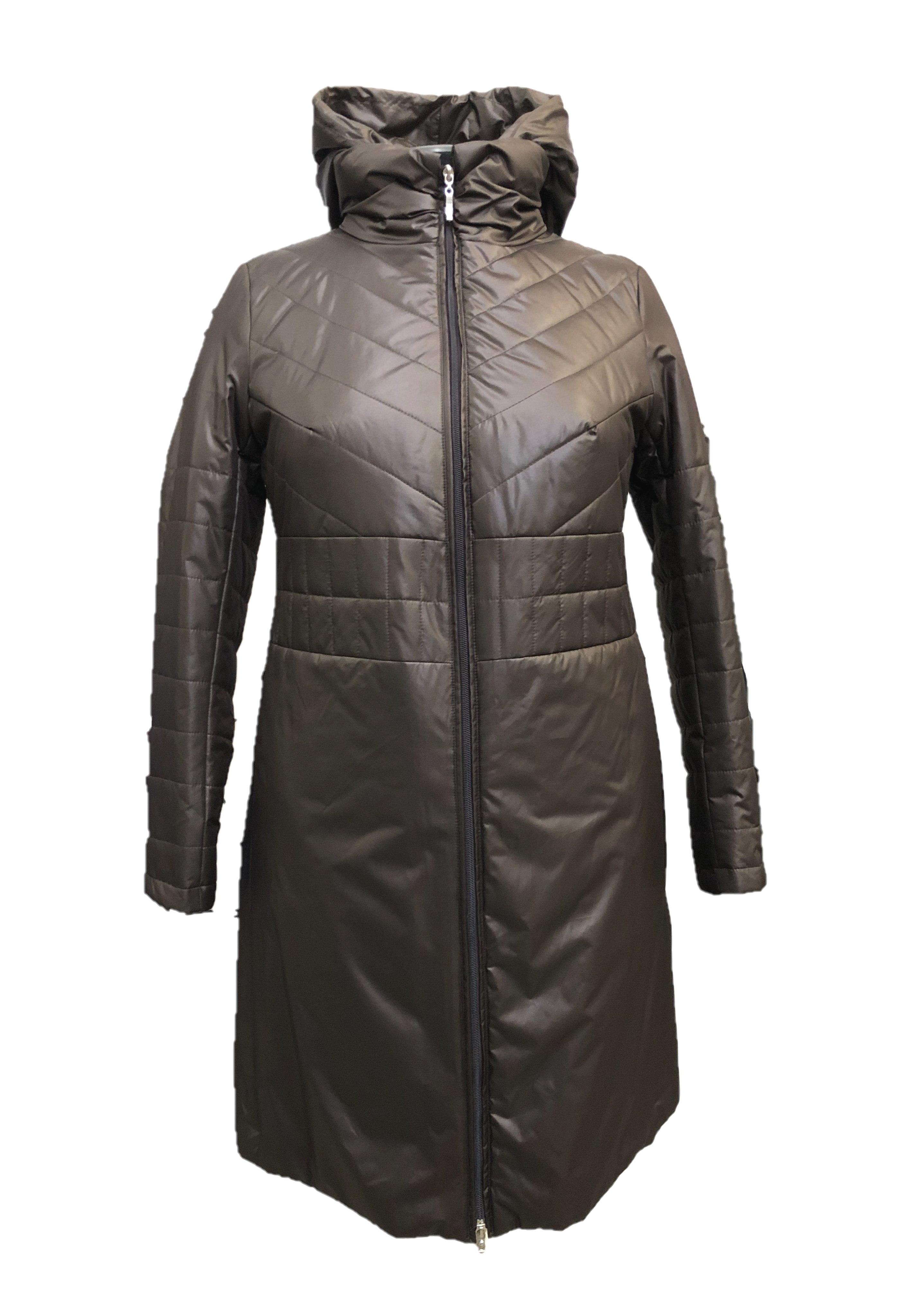 Пальто женское Pit.Gakoff Грета коричневое 46 RU