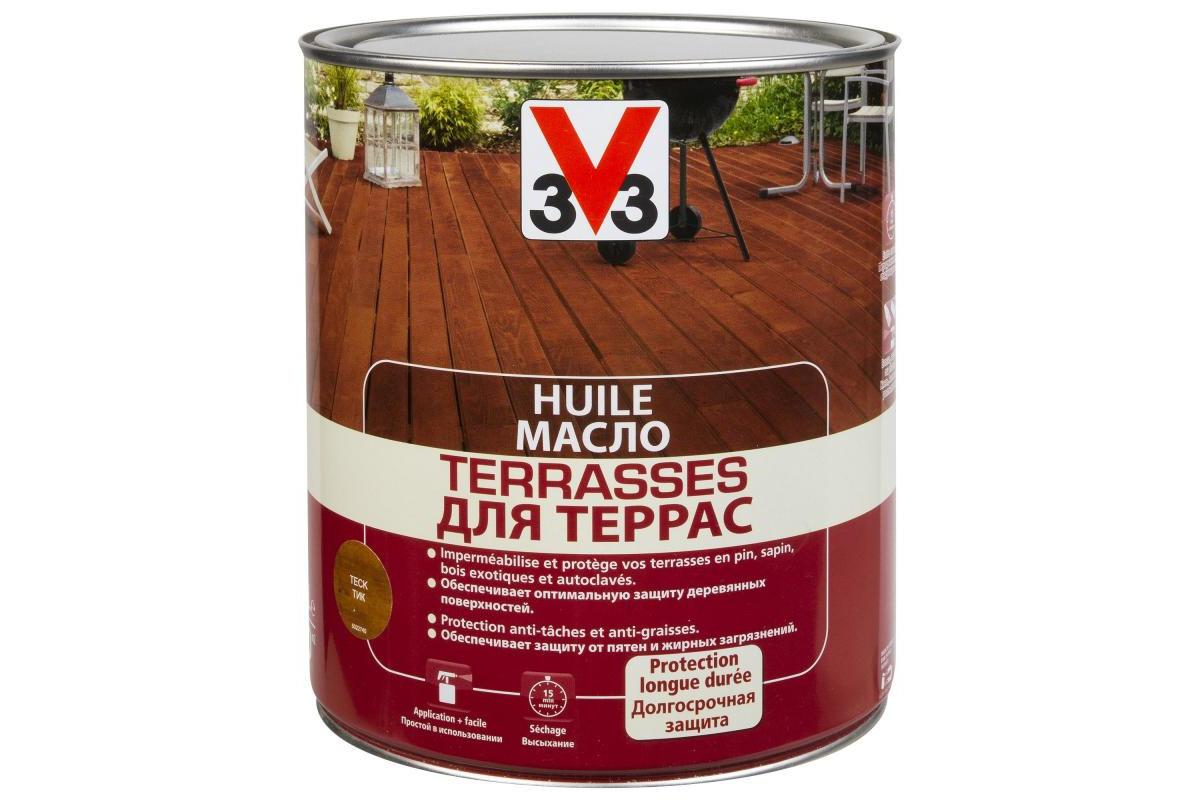 Масло для террас V33 Тиковое Дерево 5л.