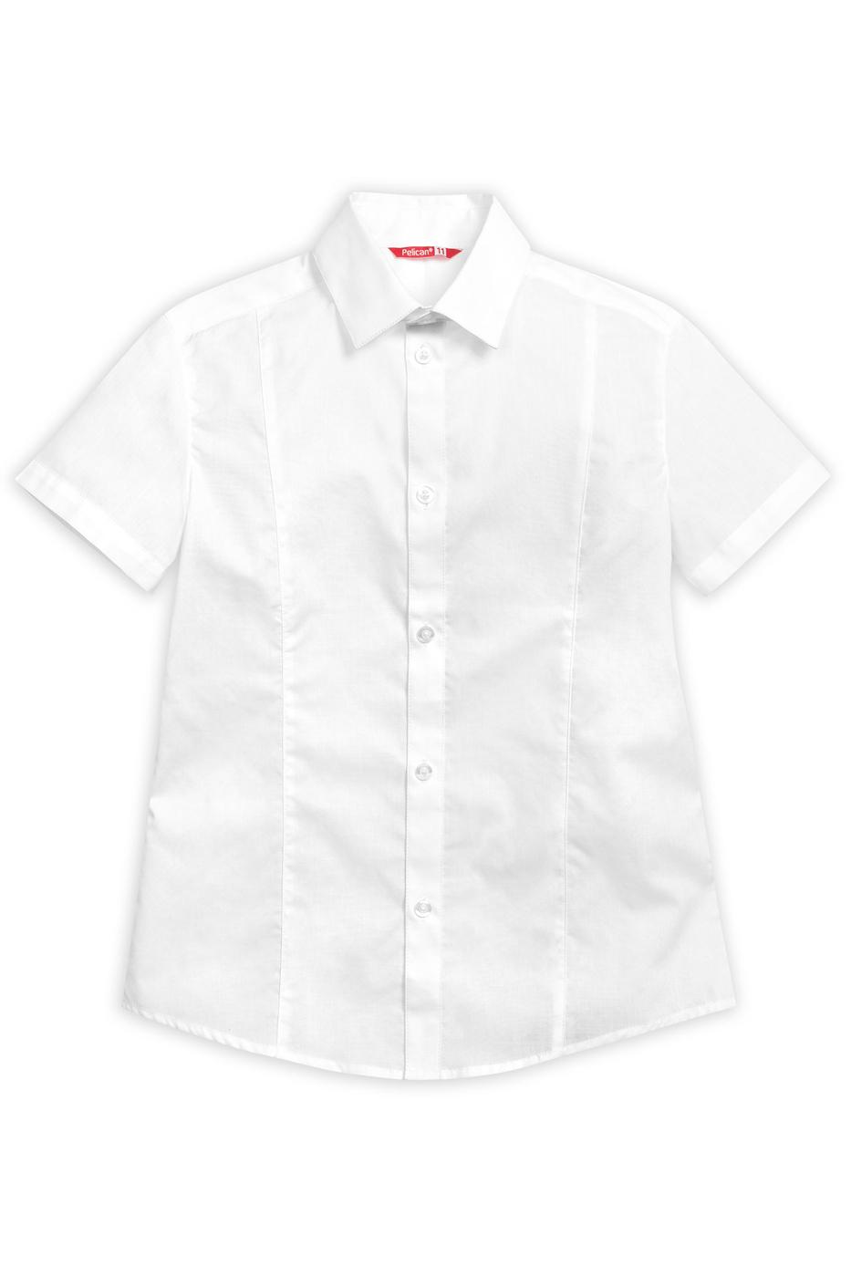 Сорочка детская Pelican, цв. белый, р-р 146