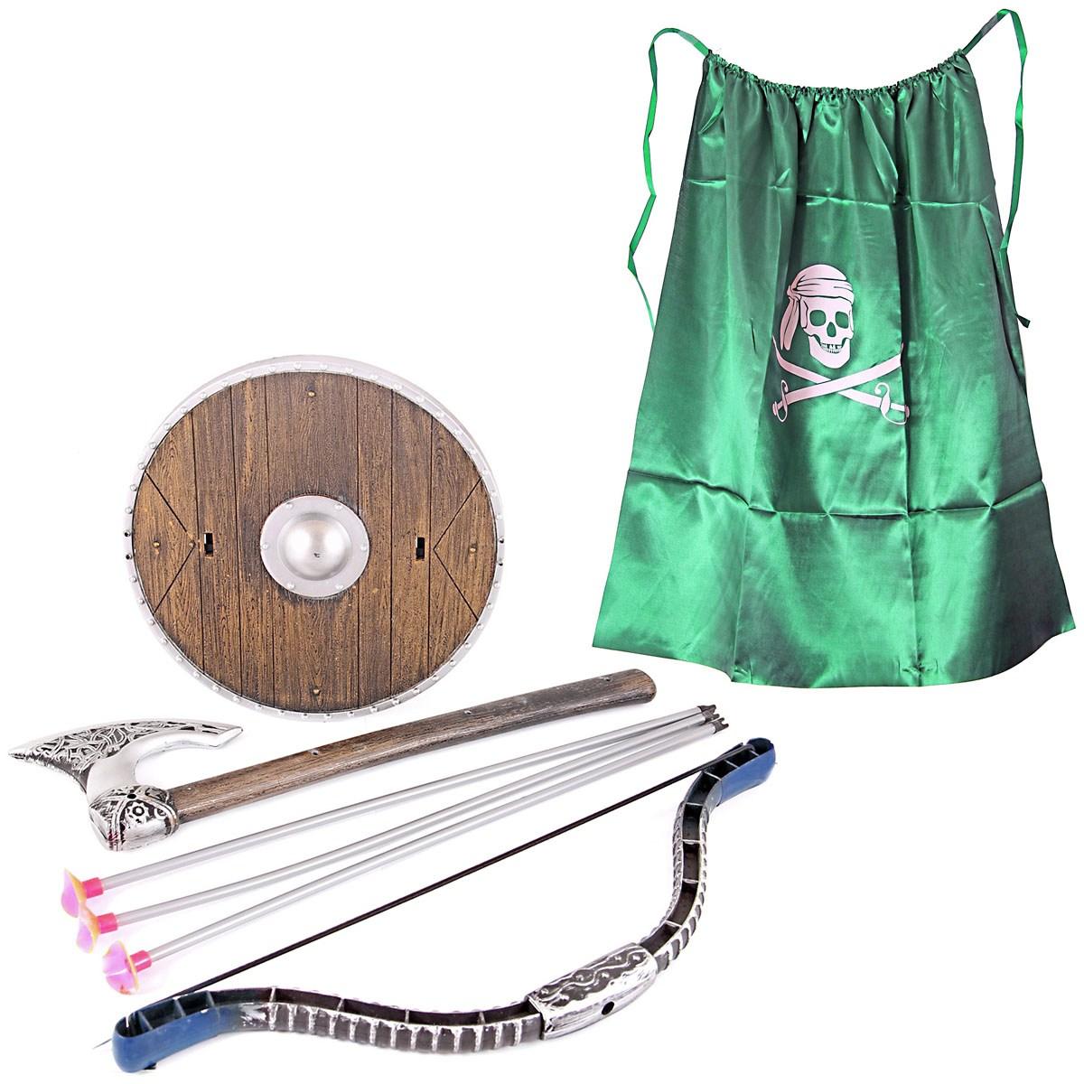 Набор оружия с зеленым флагом