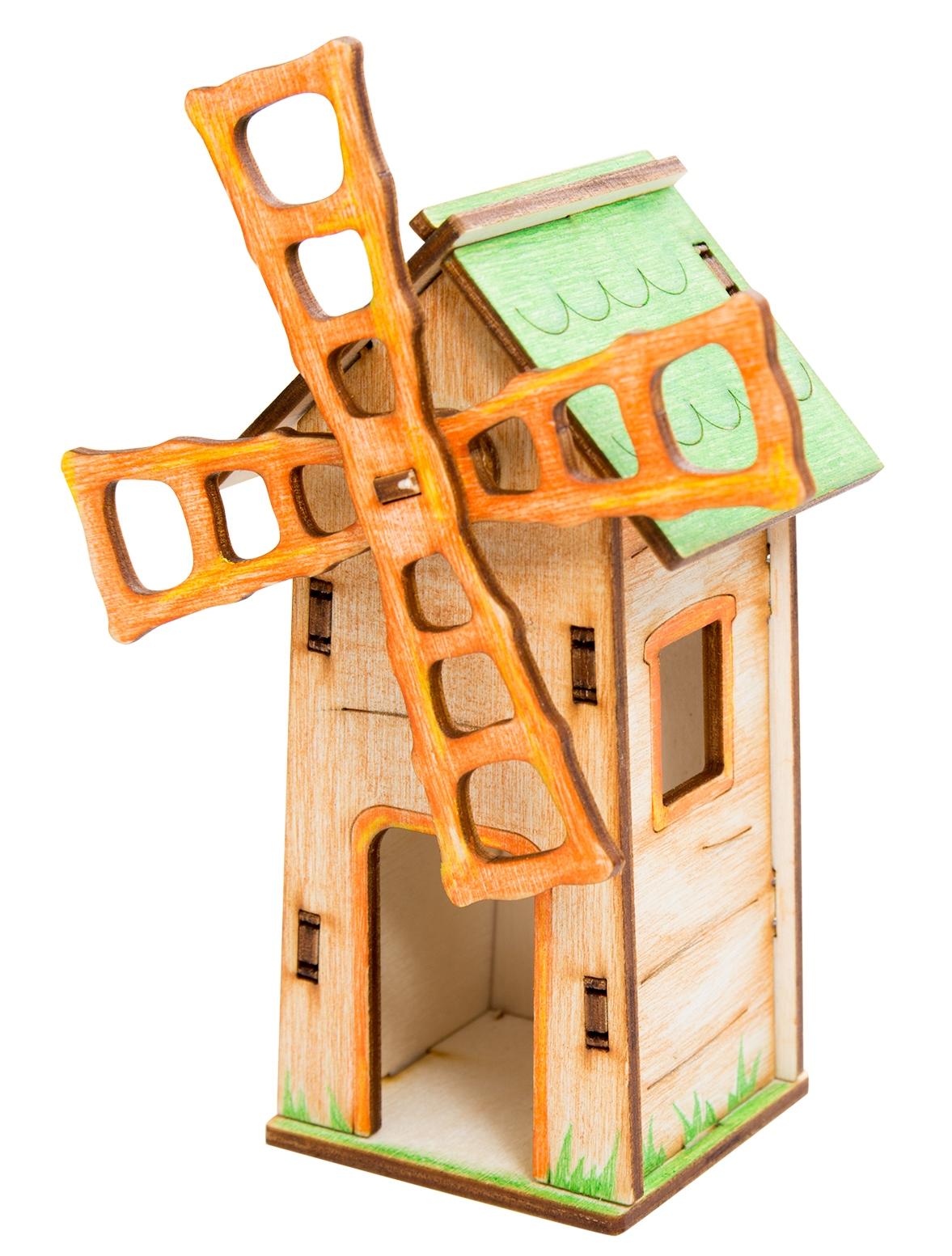Деревянный конструктор Balance Toys Минимир Мельница