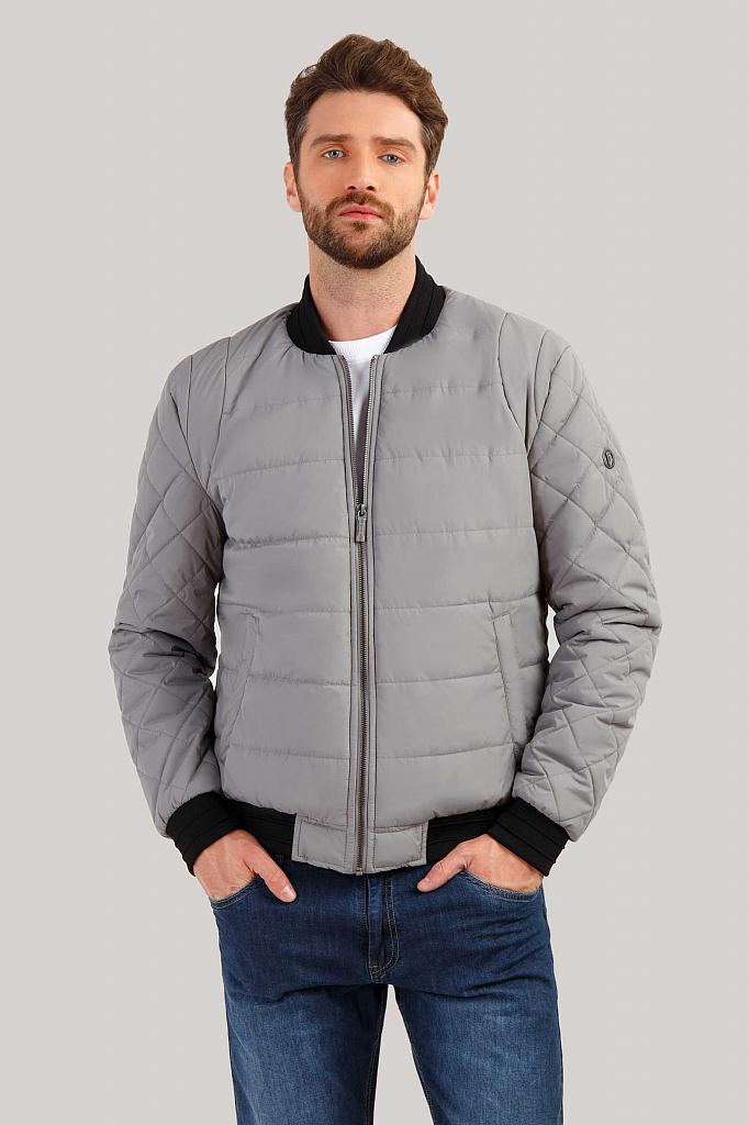 Куртка мужская Finn-Flare B19-22003 серая XL