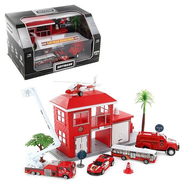 Купить Набор с инерционными машинами Служба спасения, HOFFMANN, Наборы игрушечного транспорта