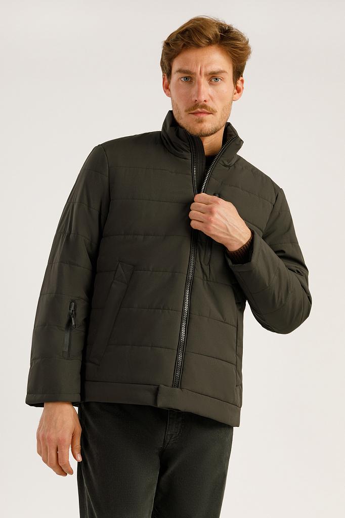 Куртка мужская Finn-Flare A19-42014 коричневая S