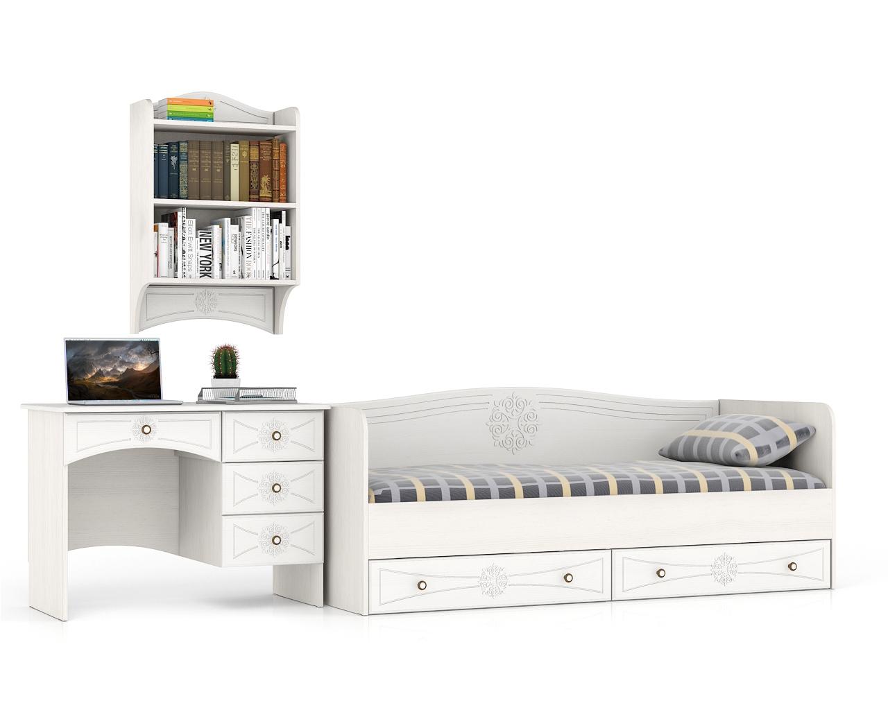 Мебель для детской комнаты Мебельный Двор Онега белая № 01 № 1