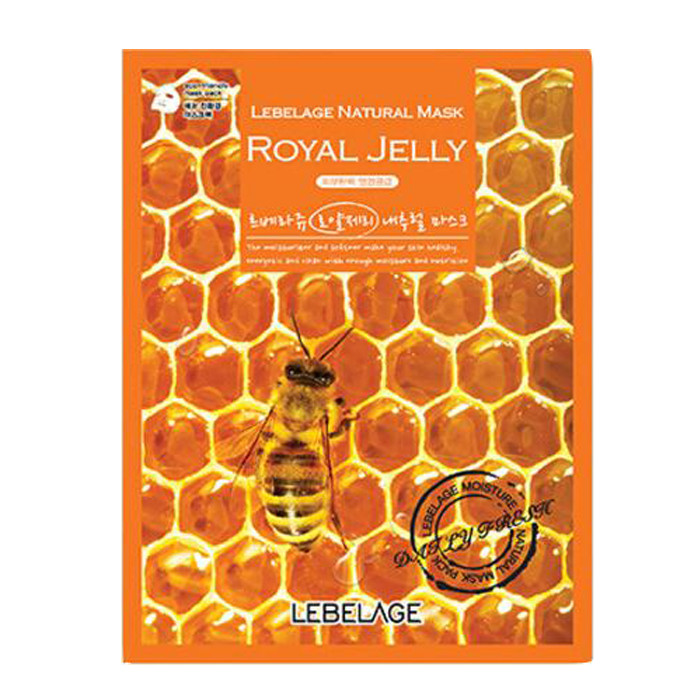 Маска для лица Lebelage Natural Mask Royal Jelly с маточным молочком 23 г по цене 70