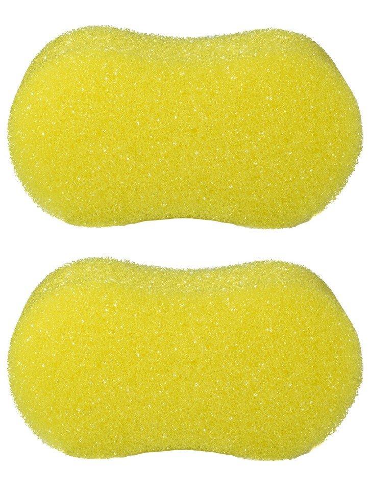 Губка банная Радиус Восьмерка Пористая  желтая