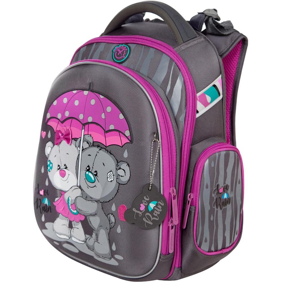 Школьный рюкзак ранец Hummingbird TK66(Pur) Love rain