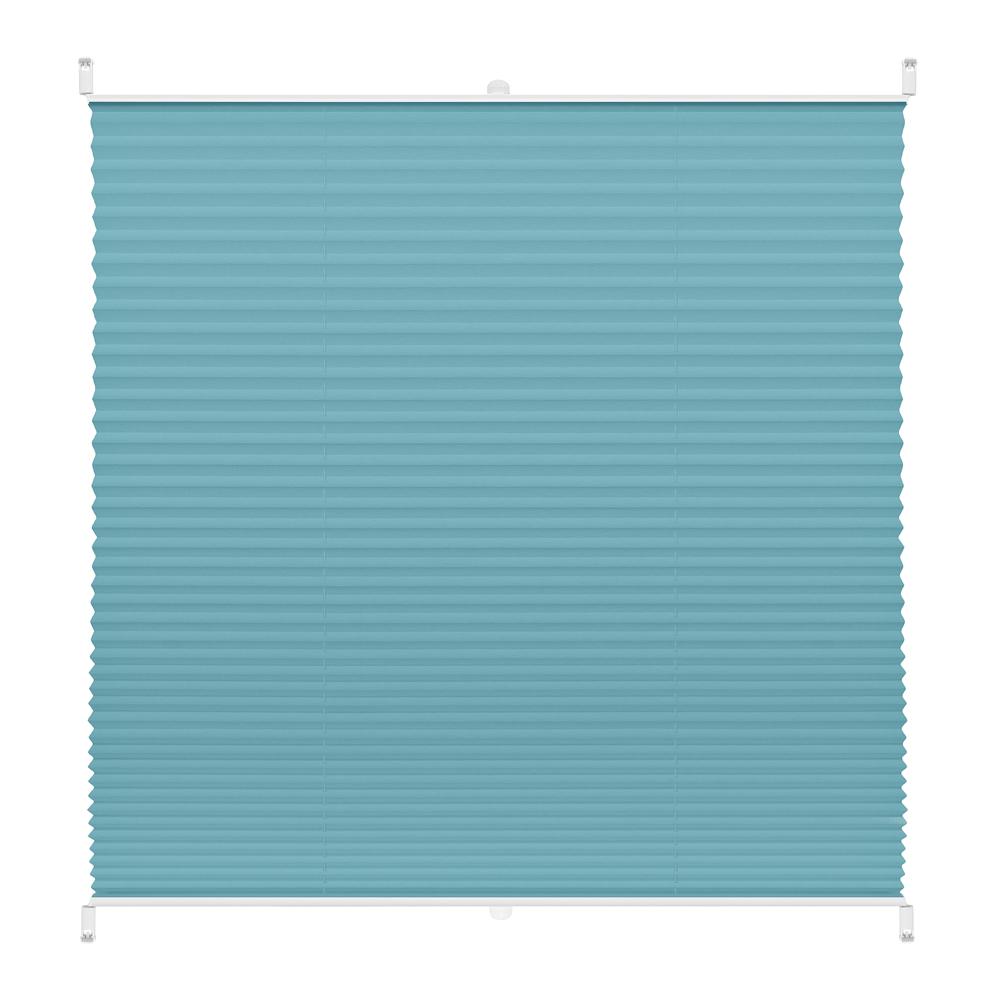 Рулонная штора плиссе Decofest Плайн бирюзовый 80х160