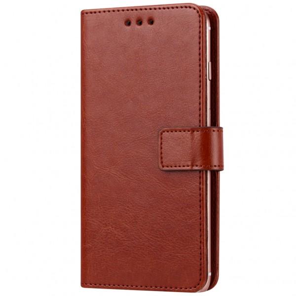 Универсальный кожаный чехол-книжка Plain (4.9-5.3\