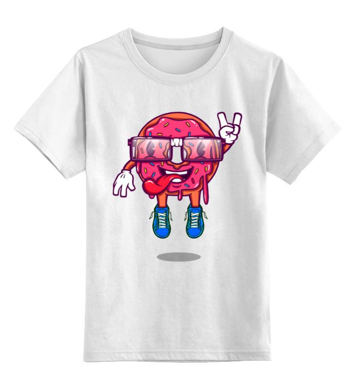 Детская футболка Printio Пончик цв.белый р.152 0000003536395 по цене 790