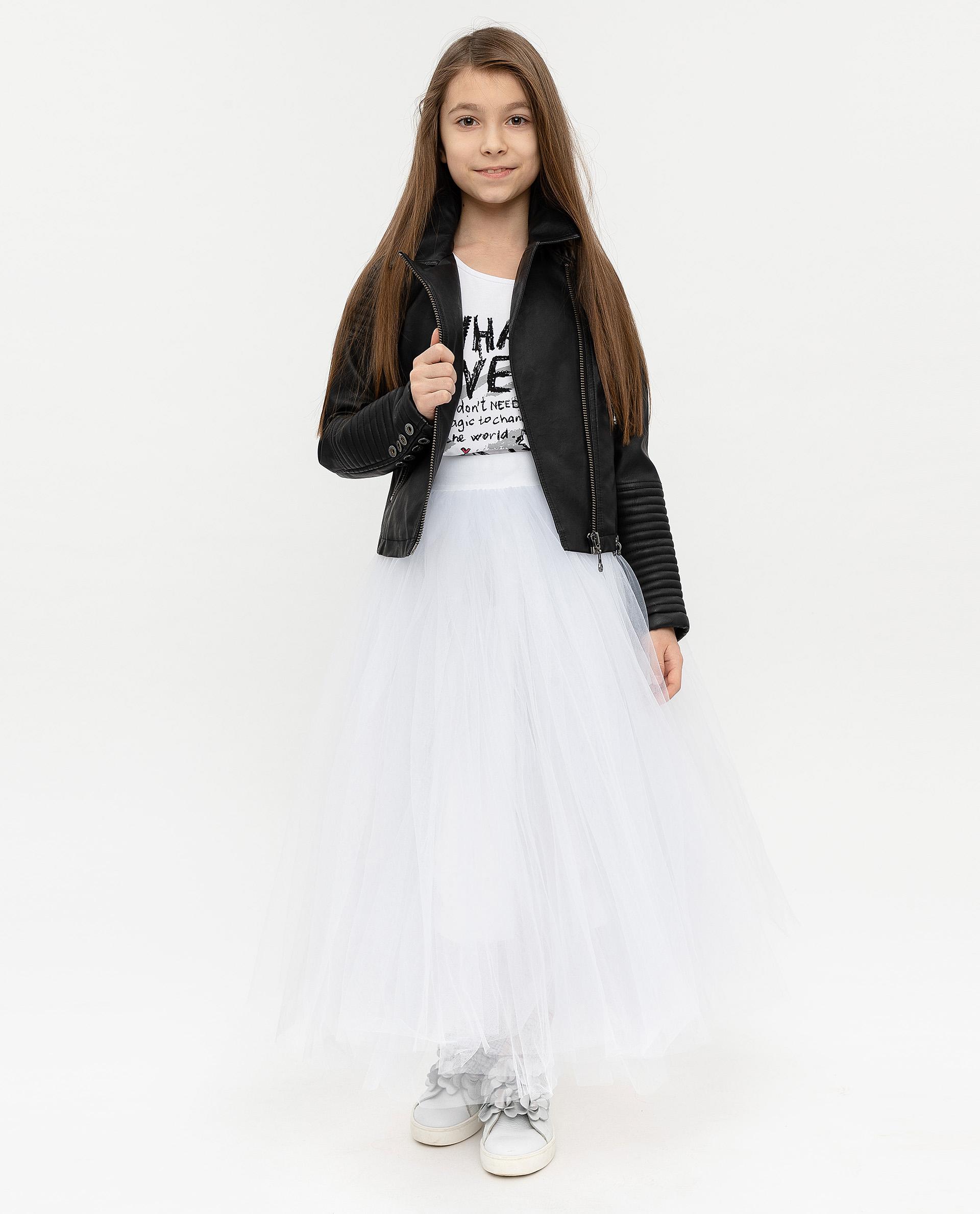 Купить 12007GJC6102, Юбка для девочек Gulliver, цв. белый, р.140,