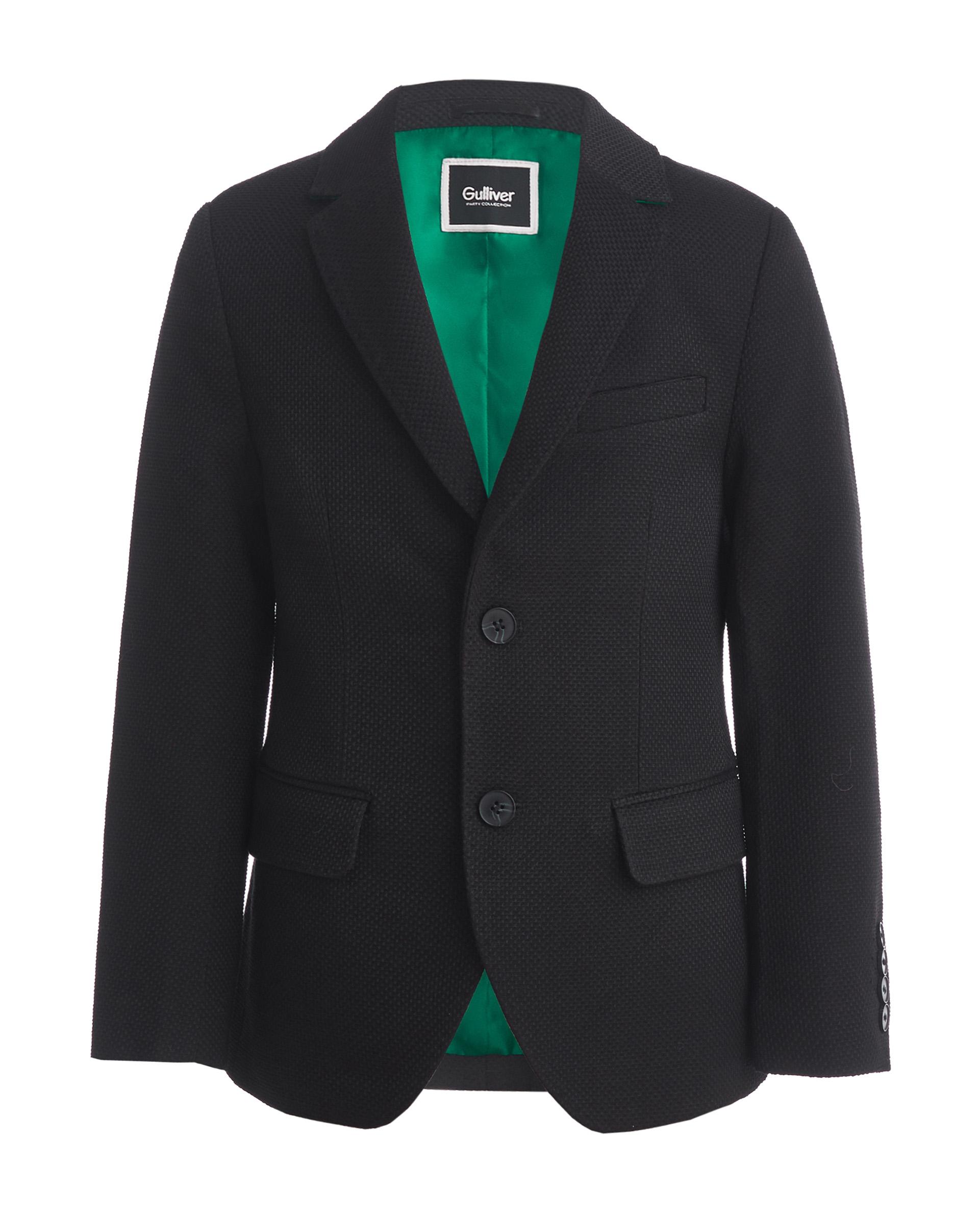 Пиджак для мальчиков Gulliver, цв. черный, р.158
