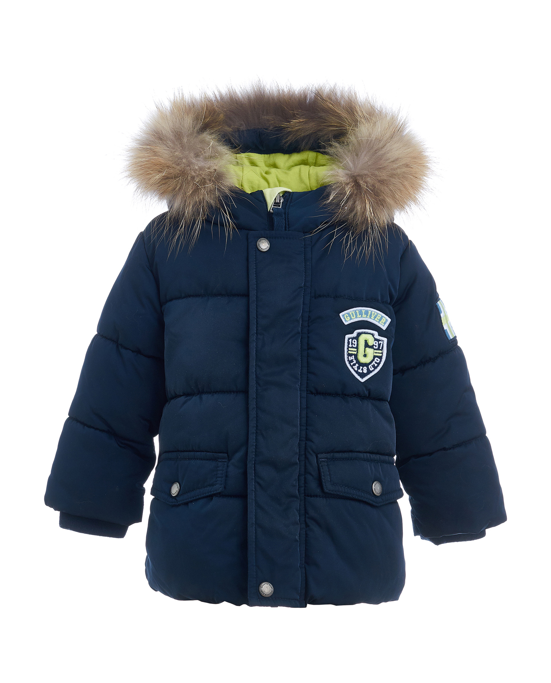 Куртка для мальчиков Gulliver, цв. синий, р.92 21933BBC4102