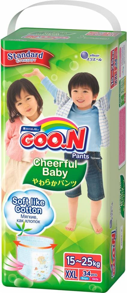 Подгузники трусики GOO.N Cheerful Baby XXL