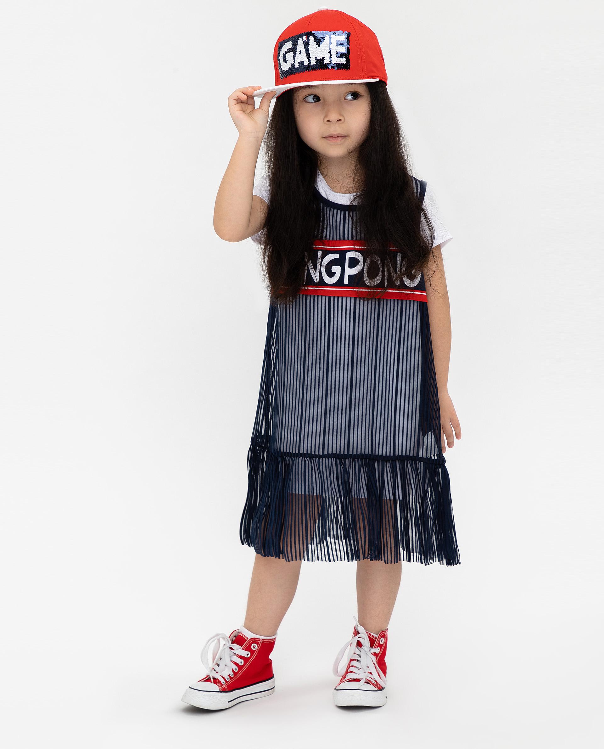 Купить 12003GMC5006, Платье для девочек Gulliver, цв. синий, р.104,