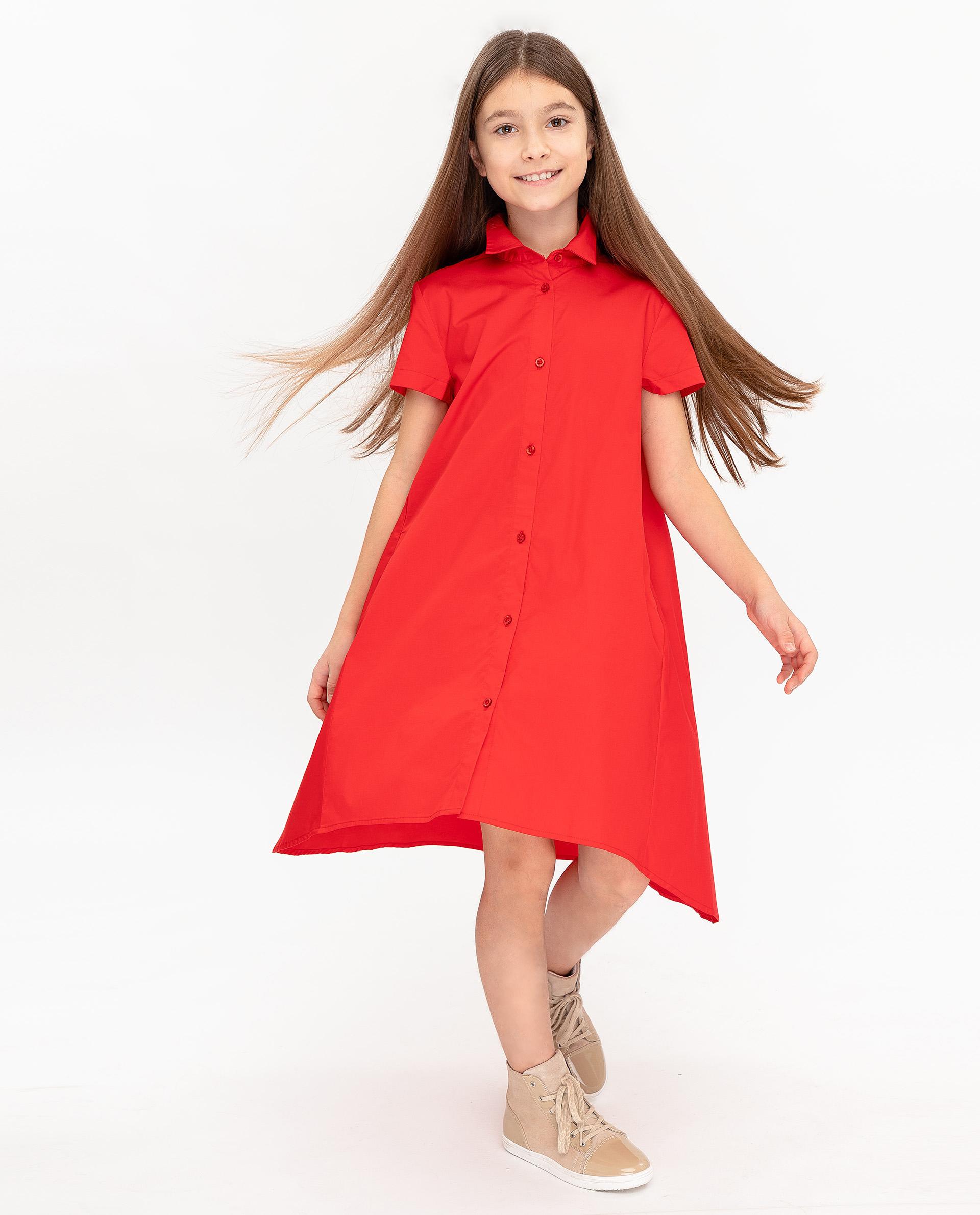 Платье для девочек Gulliver, цв. красный, р.152