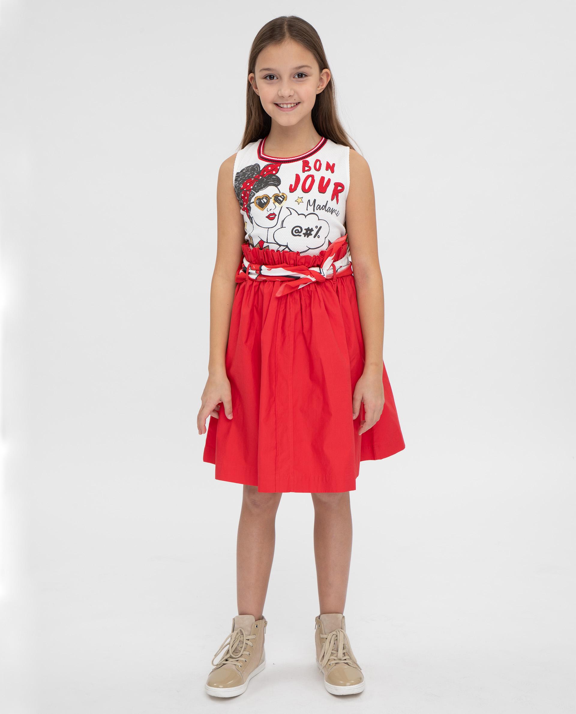 Купить 12008GJC5004, Платье для девочек Gulliver, цв. красный, р.164,