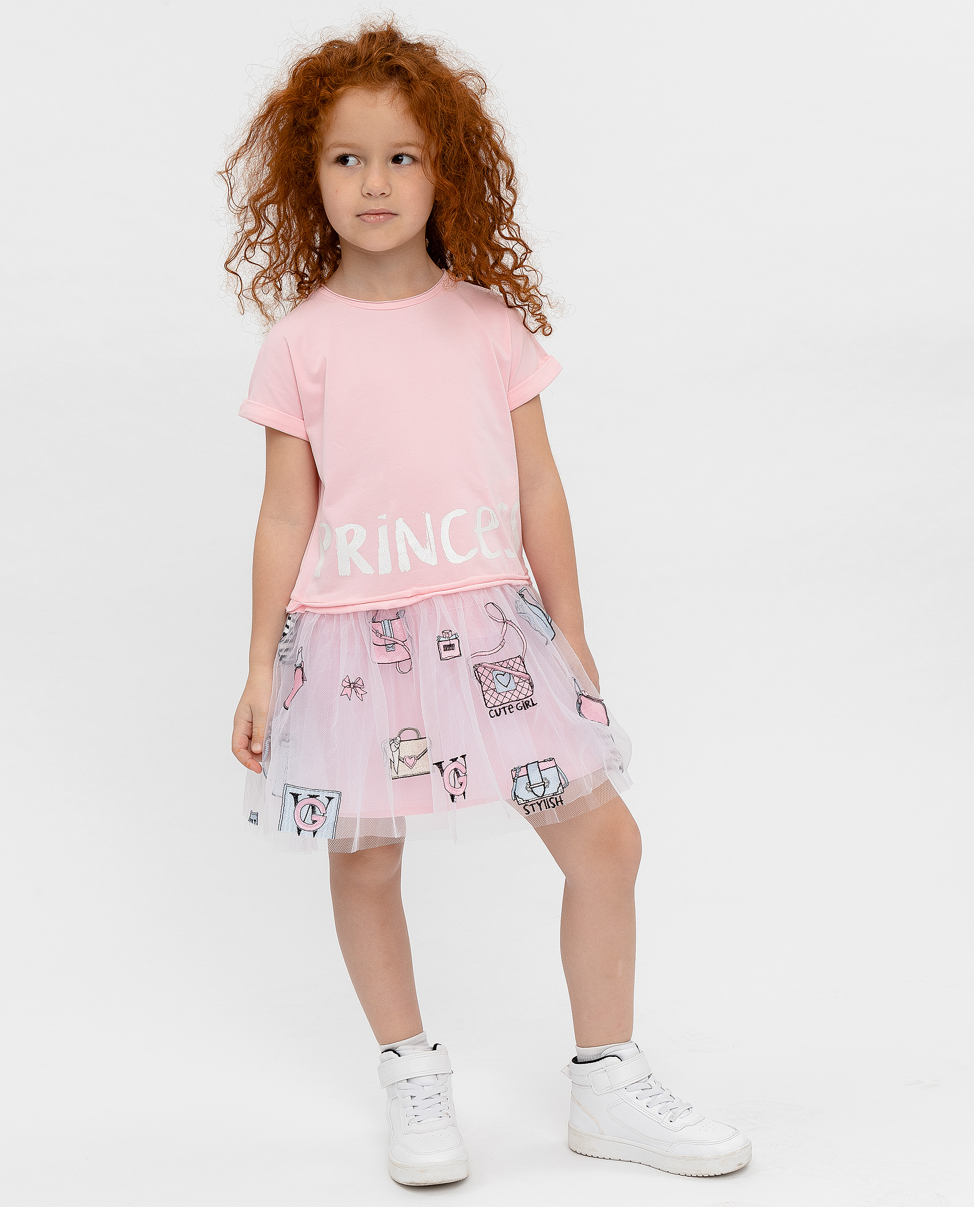Платье для девочек Gulliver, цв. розовый, р.128 12001GMC5002