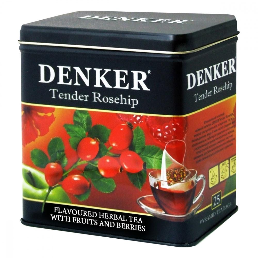 Чайный напиток Denker Tender Rosehip травяной 25 пирамидок