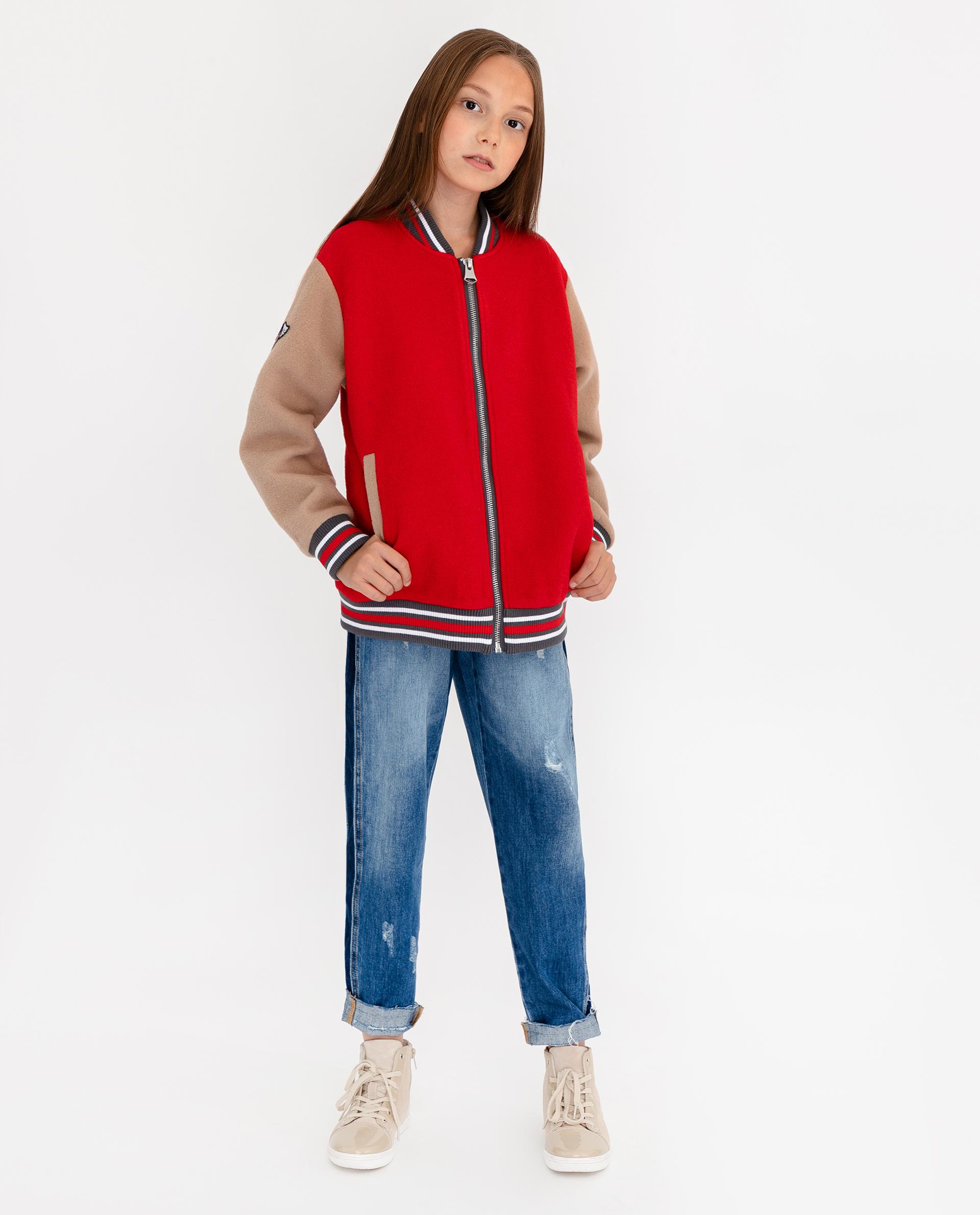 Купить 12008GJC4005, Куртка для девочек Gulliver, цв. красный, р.140,