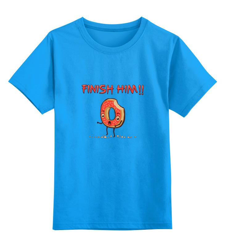 Купить 0000000699790, Детская футболка классическая Printio Finish him!, р. 128,