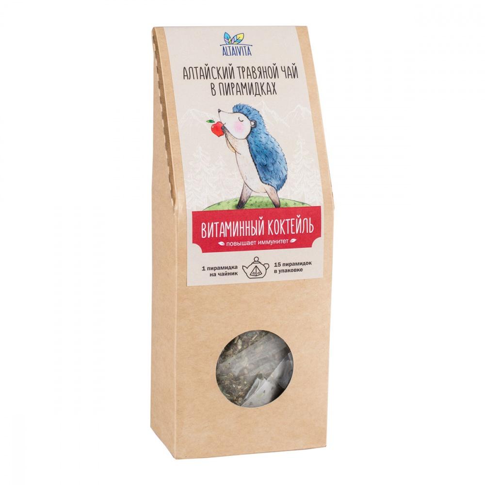 Чай Алтайвита витаминный коктейль травяной 15 пирамидок фото