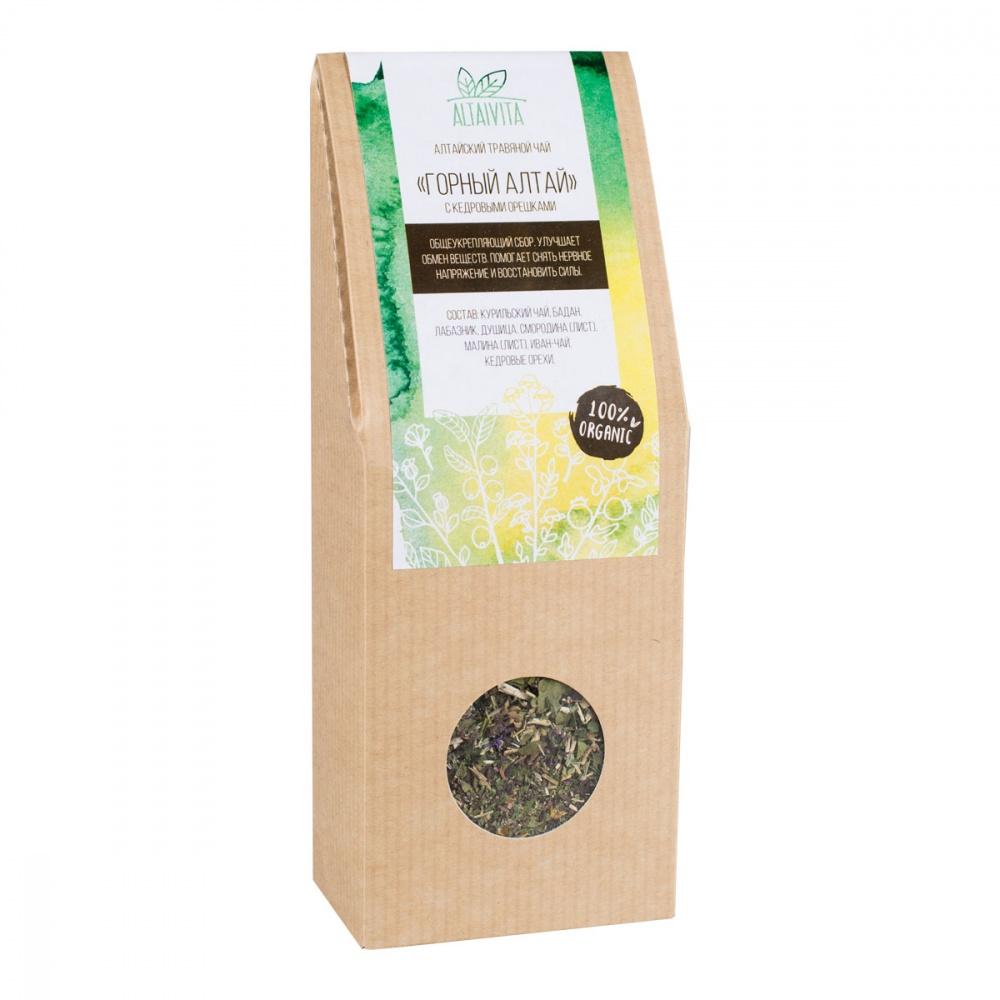 Чай Алтайвита горный Алтай с кедровыми орешками травяной 45 г