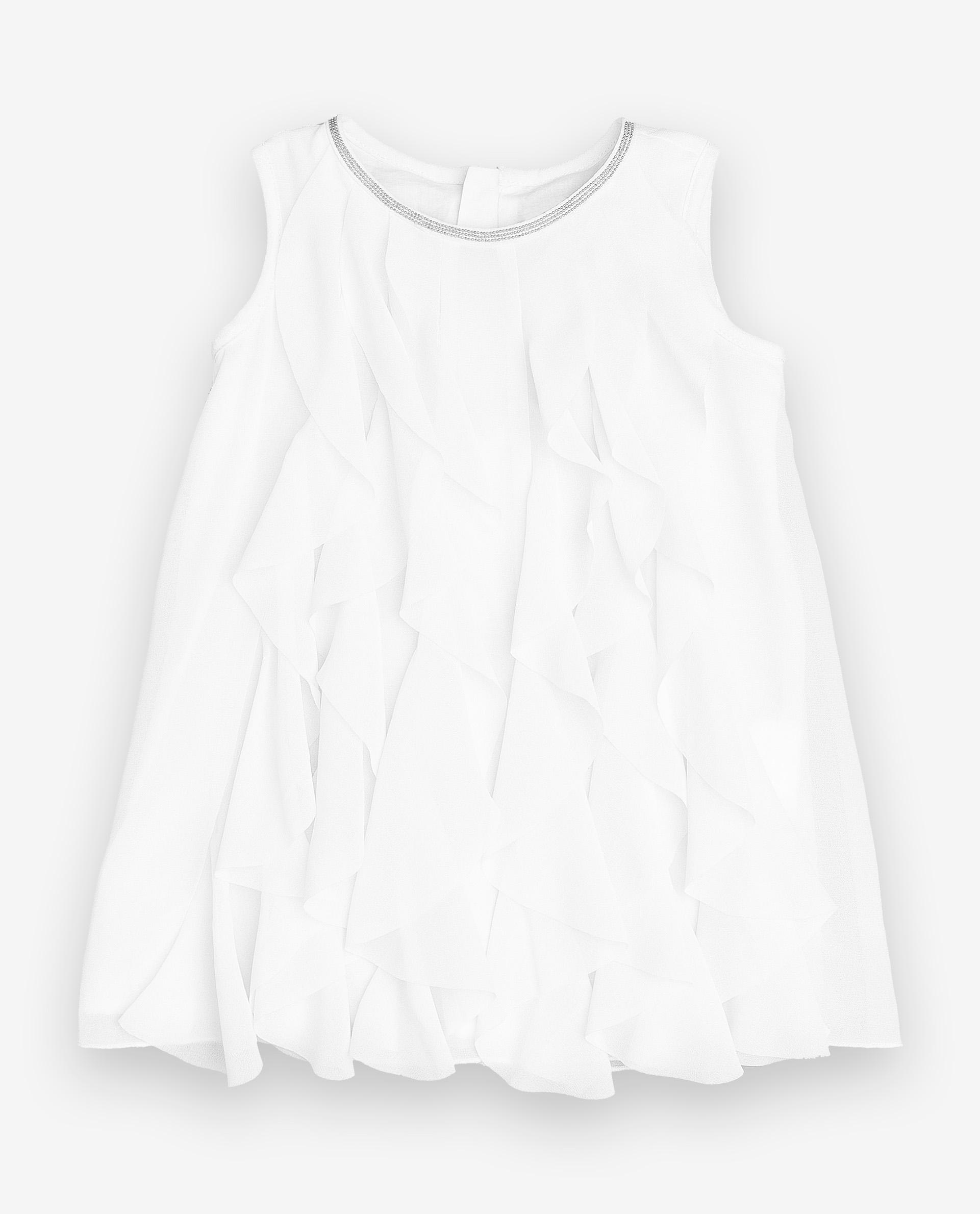 Платье для девочек Gulliver, цв. белый, р.92