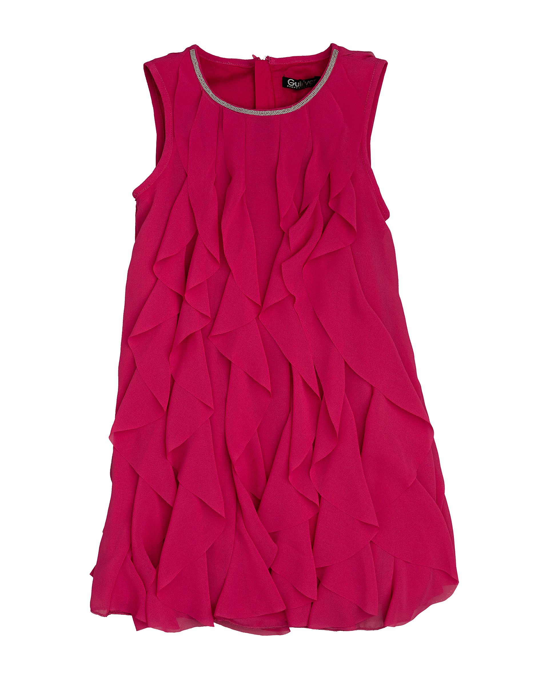 120GPGMC2507, Платье для девочек Gulliver, цв. фуксия, р.104,  - купить со скидкой