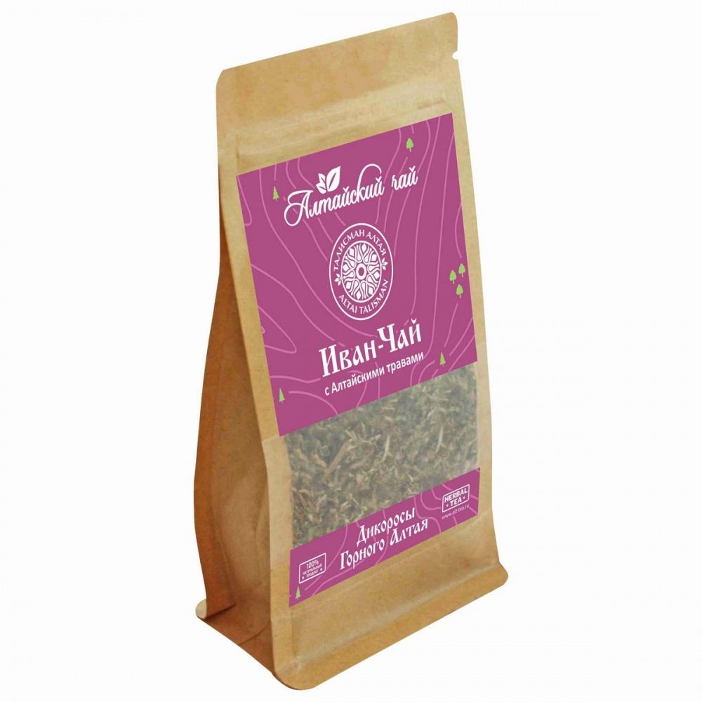 Чай Алтайский чай иван-чай с алтайскими травами травяной листовой 50 г
