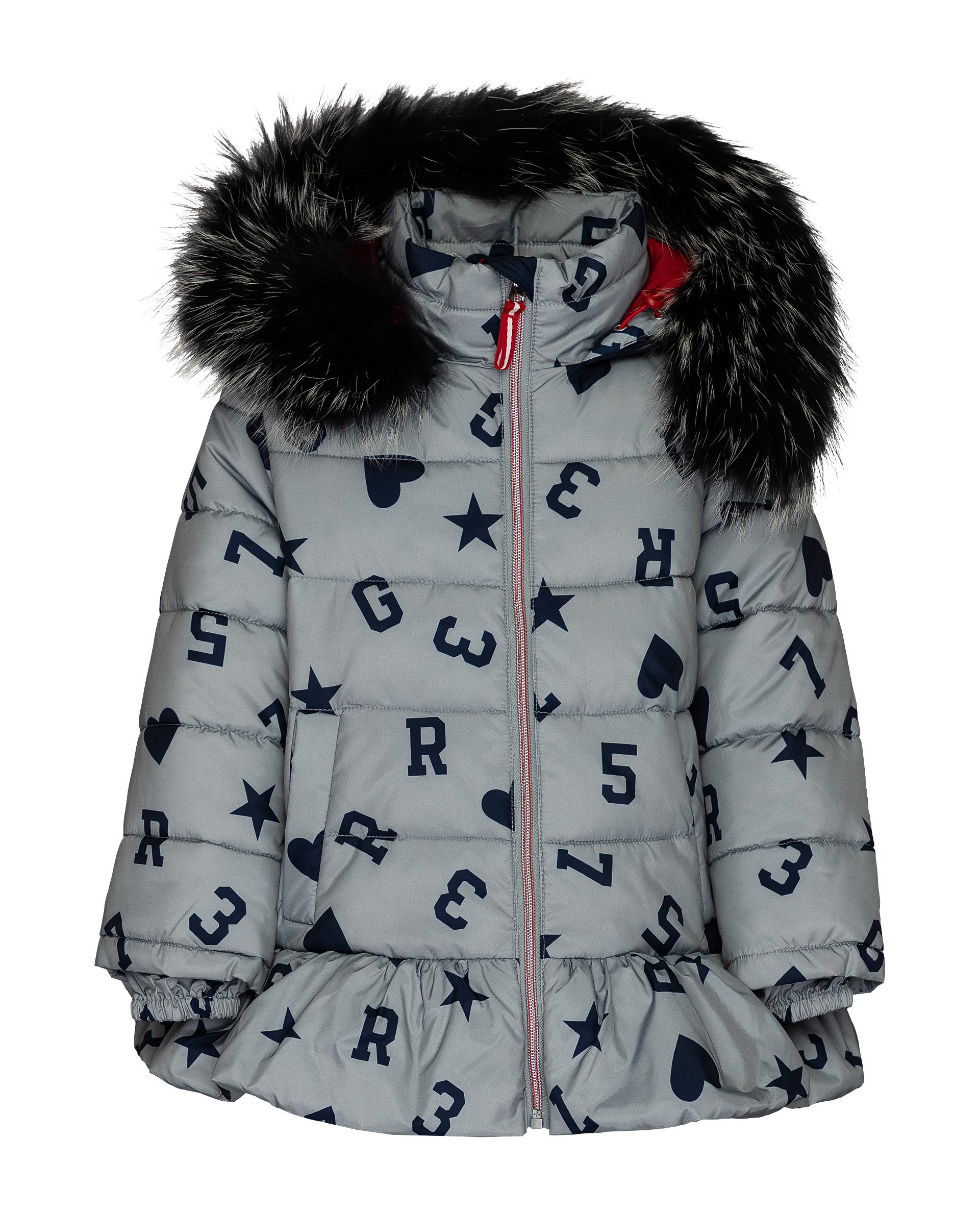 Куртка для девочек Gulliver, цв. серый, р.104 фото