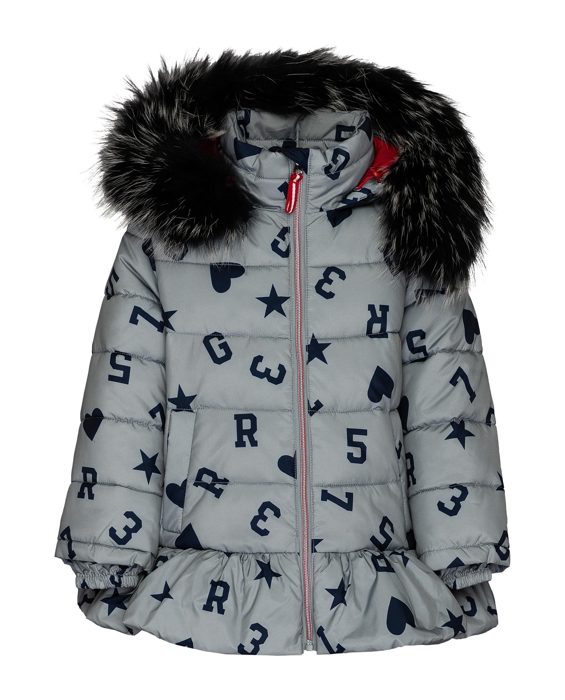 Куртка для девочек Gulliver, цв. серый, р.110 фото